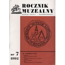 Rocznik Muzealny nr 7 : 1992 - Muzeum Poczty i Telekomunikacji