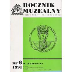 Rocznik Muzealny nr 6 : 1991 - Muzeum Poczty i Telekomunikacji