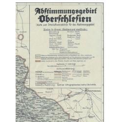"""Abstimmungsgebiet Oberschlesien : mapa do """"Ortschafts-Verzeichnis für das Abstimmungsgebiet in Oberschlesien"""""""